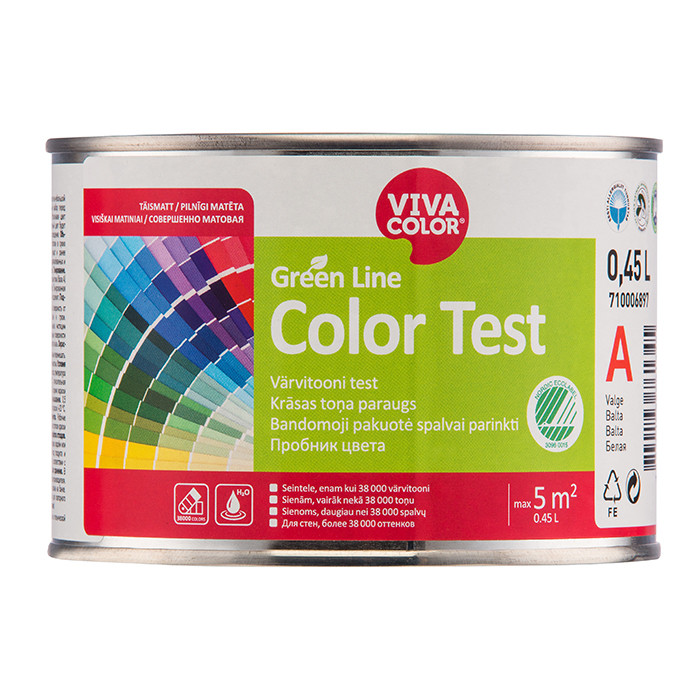 VIVACOLOR GL Color Test A0.45L Full matt wall paint