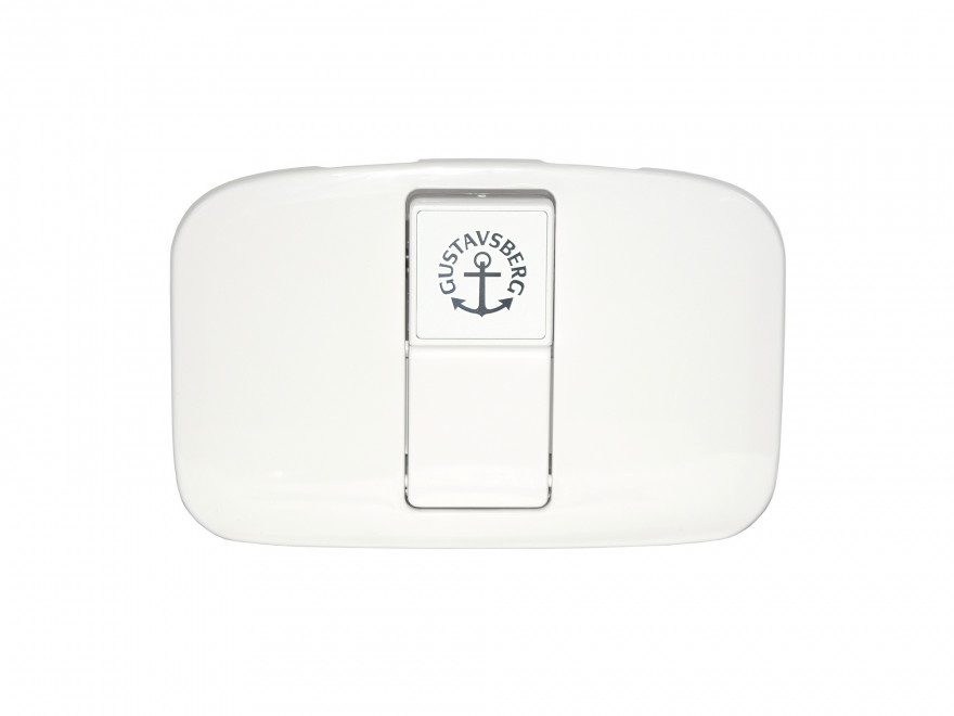 Cistern cover with pushbutton