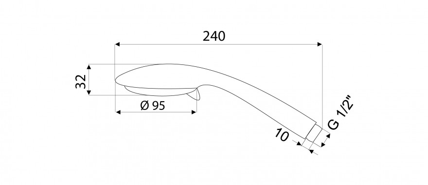 "Dušas klausule OXY 1/2""  5 režīmi , 8.5L , hromēta  622072 Rubineta"