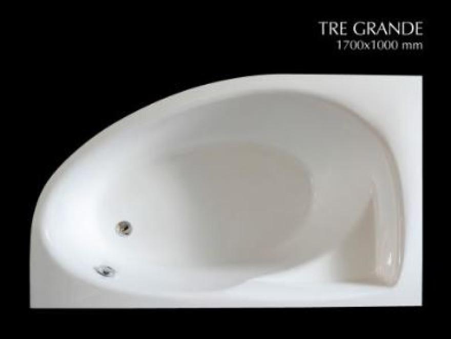 PAA bathtub TRE GRANDE 1700x1000 mm white