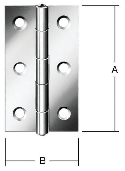 Narrow hinges 100x52mm Steel / ZN