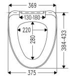 SALTUM BEACH SC toilet seat,duroplast,white, 2.1kg