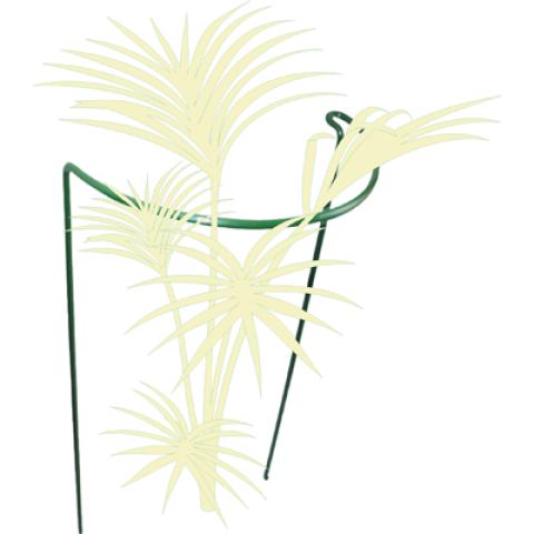 Atbalsts puķēm 35x35x17cm  ar rādiusu, zaļš 000543