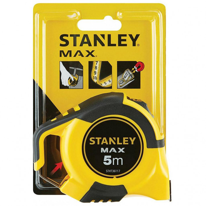 MĒRLENTE STANLEY MAX 5M  ar magnētu STHT0-36117