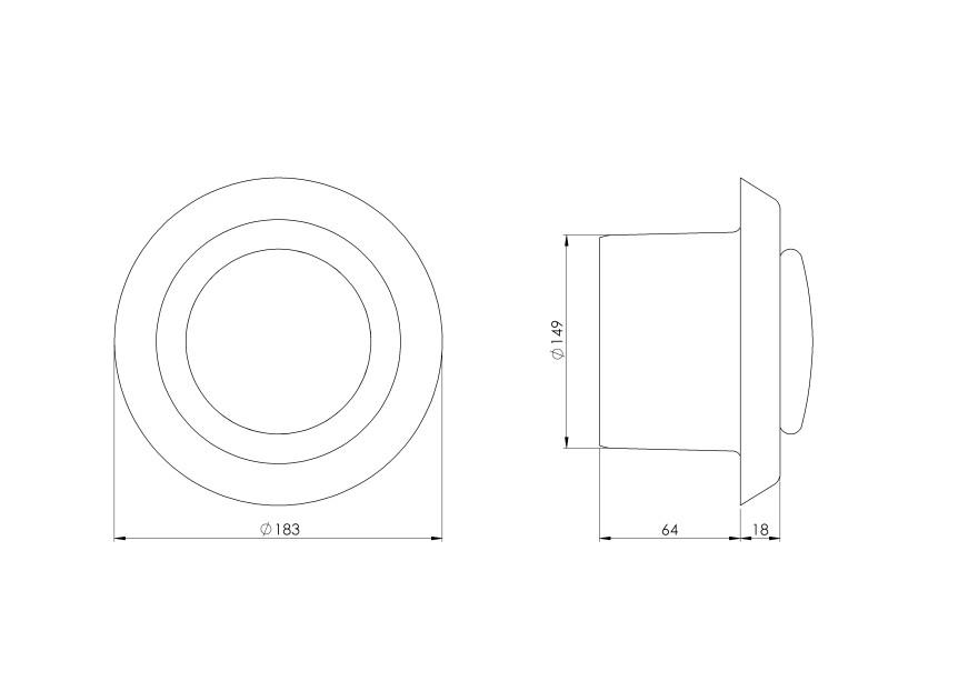 diffuserplastic,Ø150mm,all-purpose