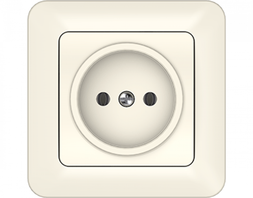 VILMA SL 250 ivory  socket without side earth with frame