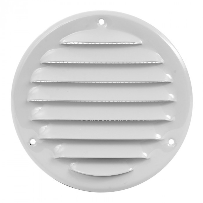 grille metal, Ø125mm, white