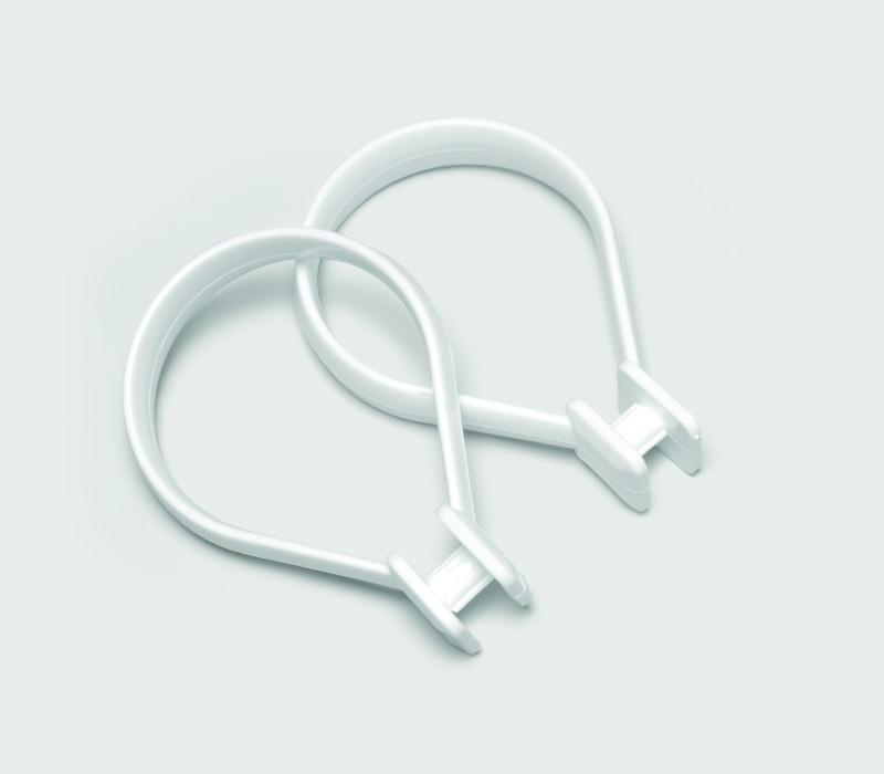 BEAUTY shower curtain rings,white , bag12pcs