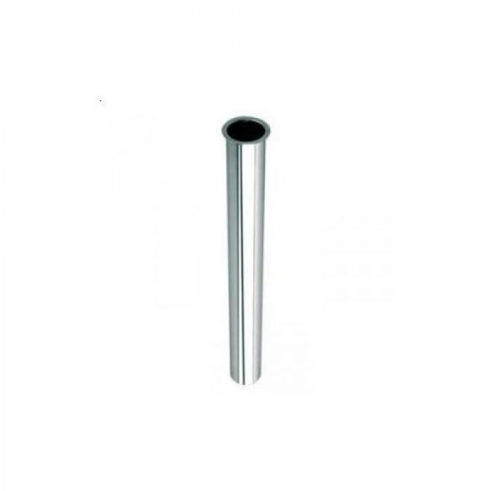 Chrome leakage pipe with flange 32x180mm