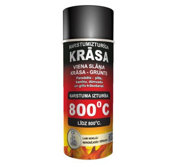 Heat resistant paint Hansa 400ml, black