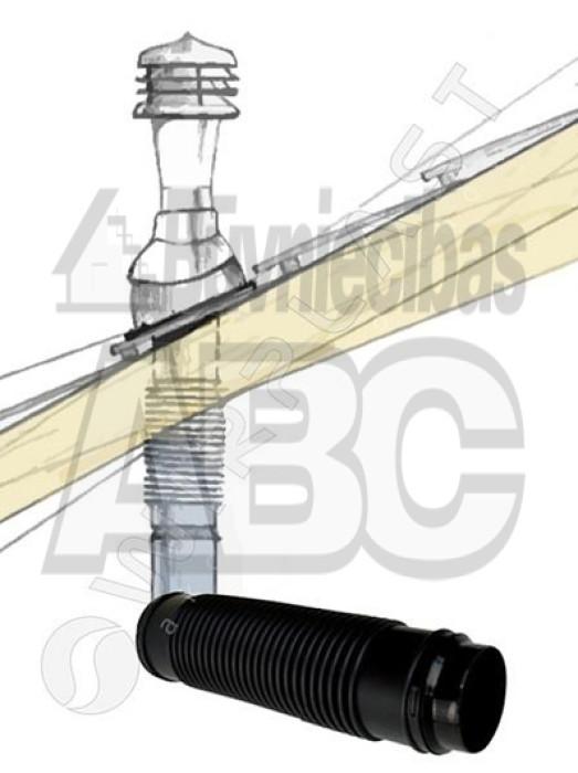Connection pipe ruroflex Ø110/400mm/, black