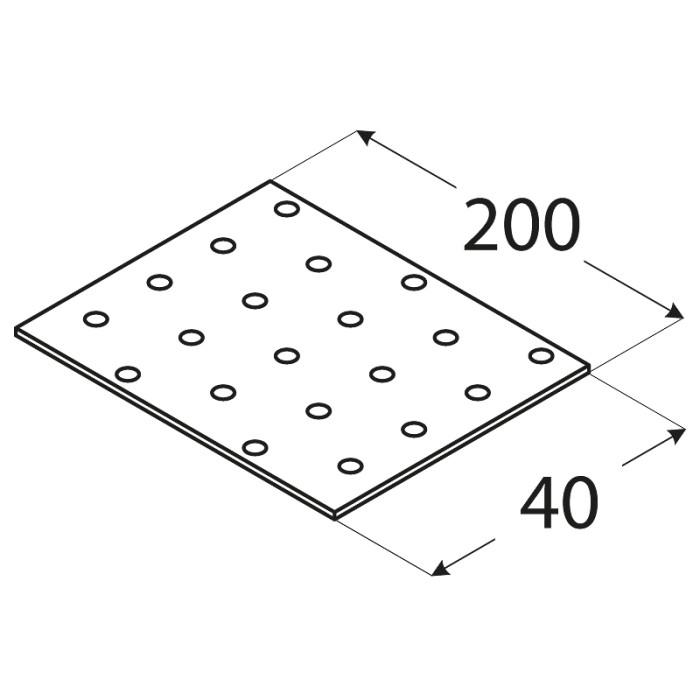 SAVIENOJUMU PLATE  40x200x2.0 mm