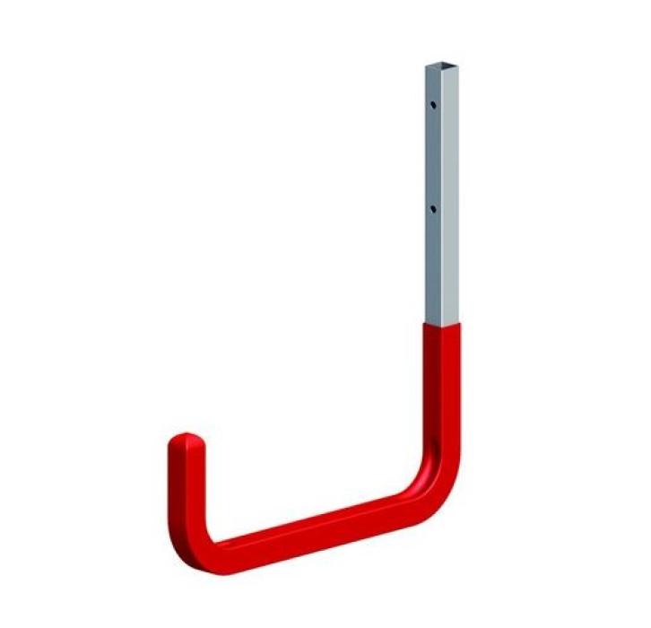 Wall hook 250x300 max.40kg red, steel