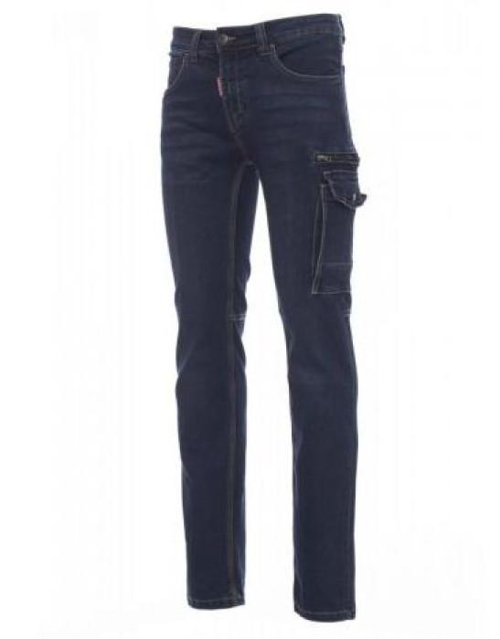 Vīriešu džinsu bikses, daudzfunkcionālas kabatas, tumši zilas, Izm. 48