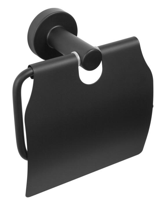 CARBON tual.pap.turētājs ar pārsegu, melns