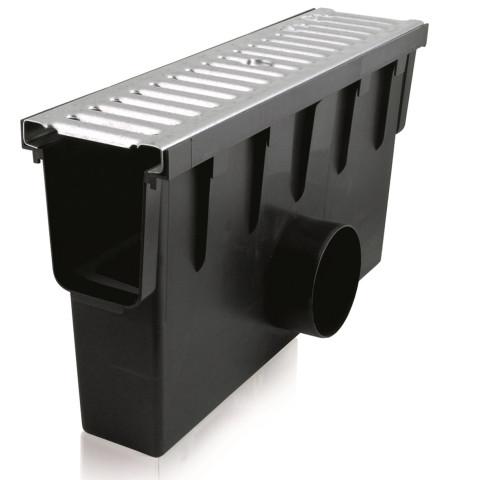 PVC notekkanālu revīzijas  kaste ar cinkotu resti