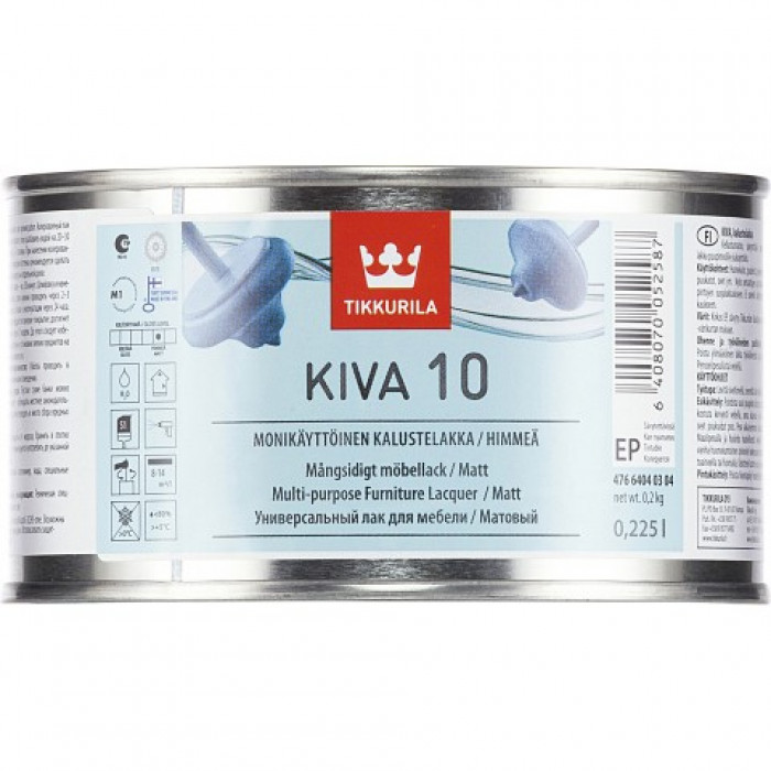 Tikkurila KIVA EP 0.225L Matt Furniture Lacquer