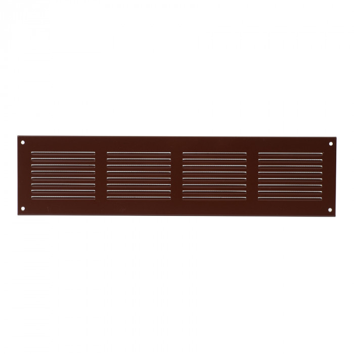 grille metal, 400x100mm, brown