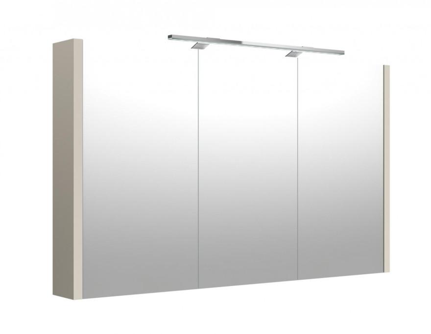 KAME JOY Vannas istabas spoguļskapis ar LED apgaismojumu, 108cm, taupe