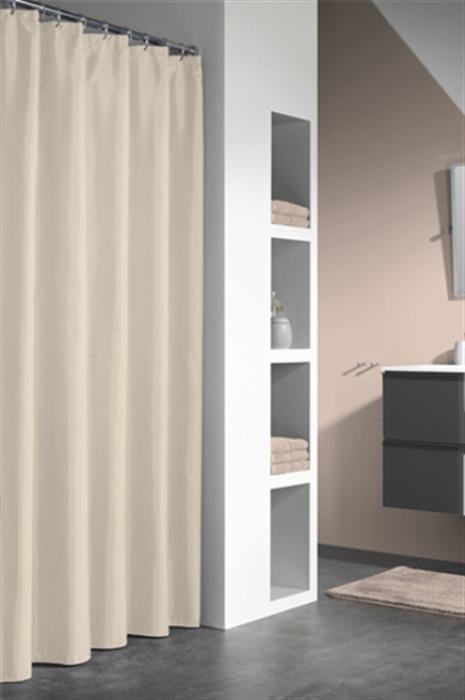 GRANADA shower curtain vinyl, beige, 240x180 cm