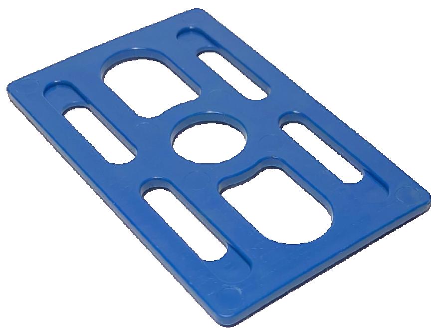 Plastmasas montāžas plāksne 2mm 50x80mm 500gabali/iepakojumā