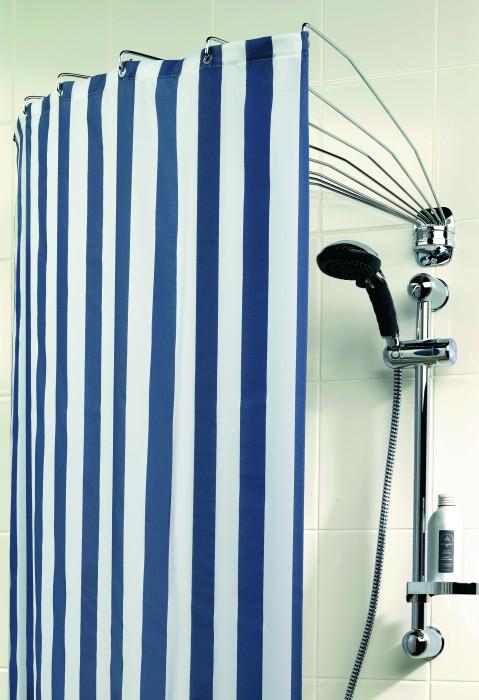 Shower curtain rod, umbrella