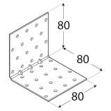 Stūra leņķis 80x80x80x1.5 mm  Pastiprināts