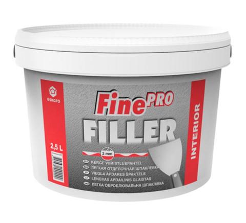 Eskaro FINE FILLER PRO 0.6l  Špakteļtepe