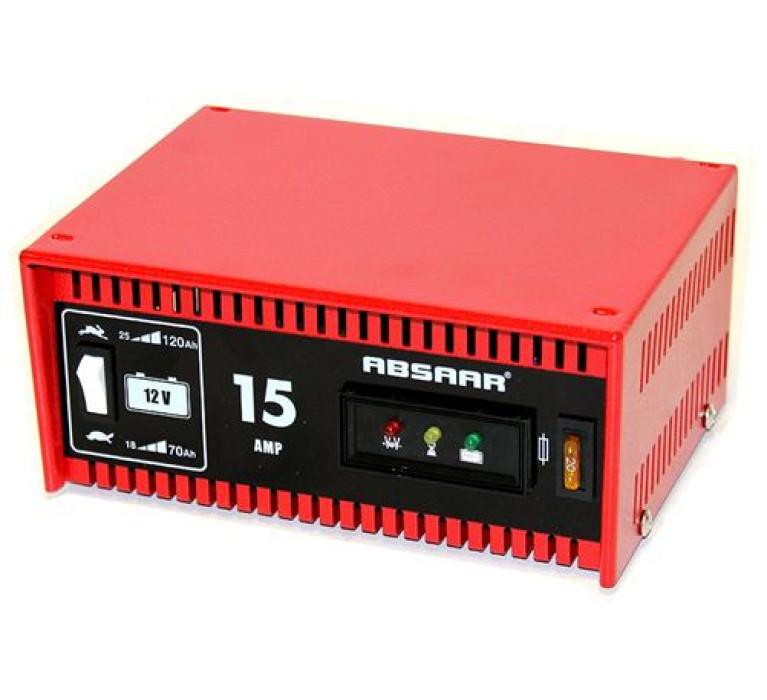 ABSAAR akum.bater.lādētājs prof.mod 15A-12V 2 režīmi
