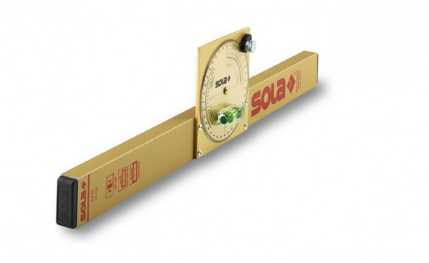 Инклинометр, спиртовой уровень SOLA APN 60 T, алюминиевый корпус, 01480701