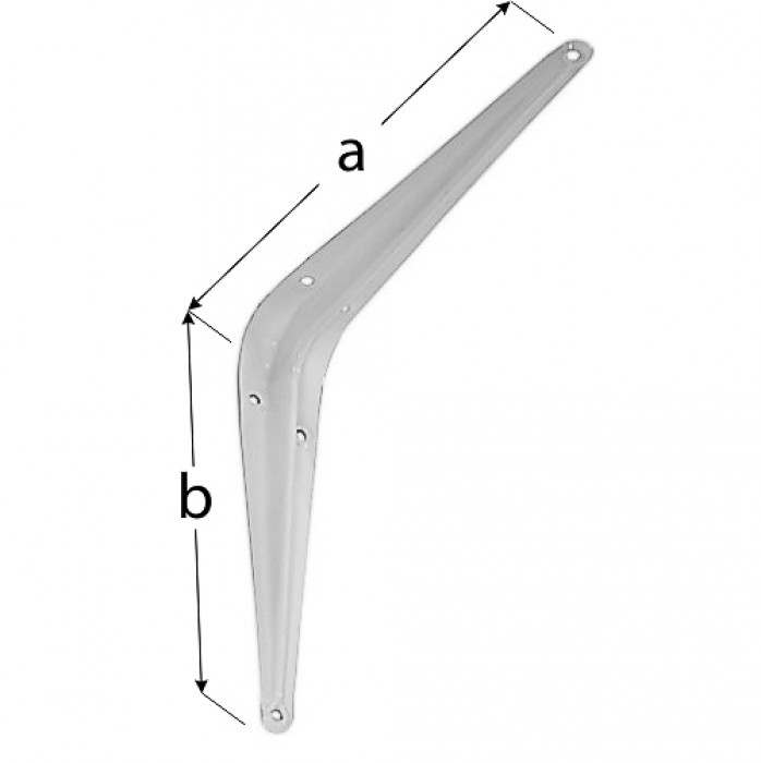 Steel bracket 200*250 white