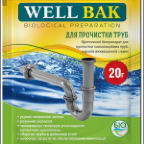 Biolīdzeklis WELL BAK  kanalizācijas caurulēm 200gr