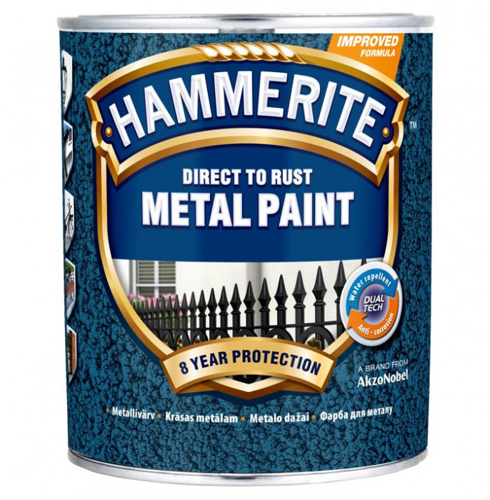 ANTICORROSIVE PAINT HAMMERED SILVERGREY 750ML