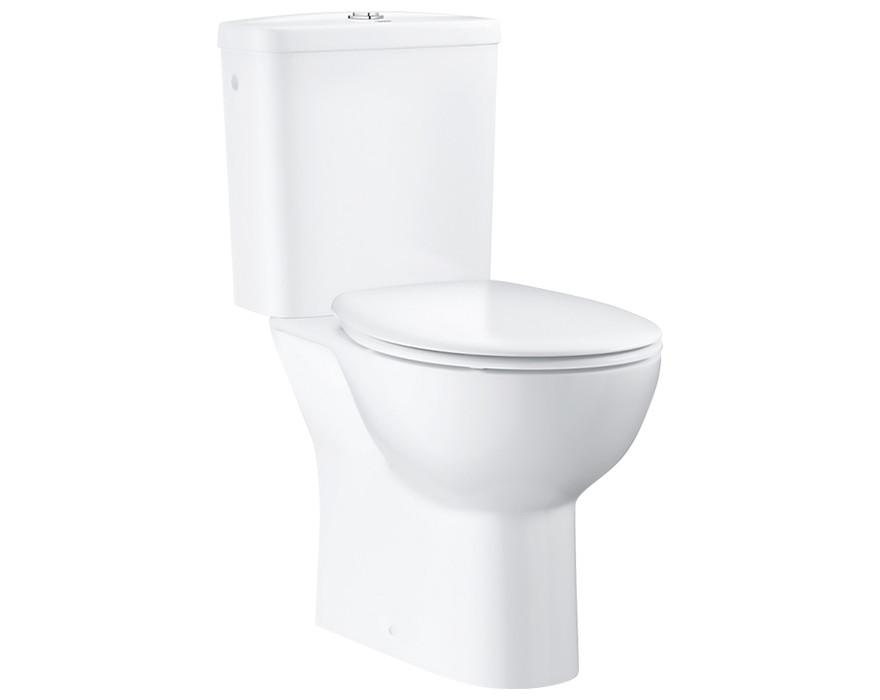 GROHE WC pods BauCeramic Rimless, horizontāls izvads ,356x600 ar QR/SC vāku, balts , 39496000 39351000