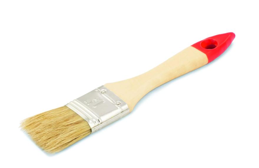 COLOR EXPERT Flat brush 35mm 5th grade,mix, light bristle,lacq.wood.handle