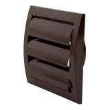 ventilationgrilleplastic,148x153mm,Ø100mm,withshutter,brown