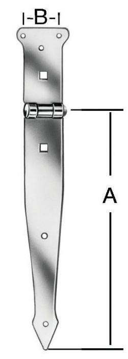 Shutter hinges 500x55mm Steel / ZN