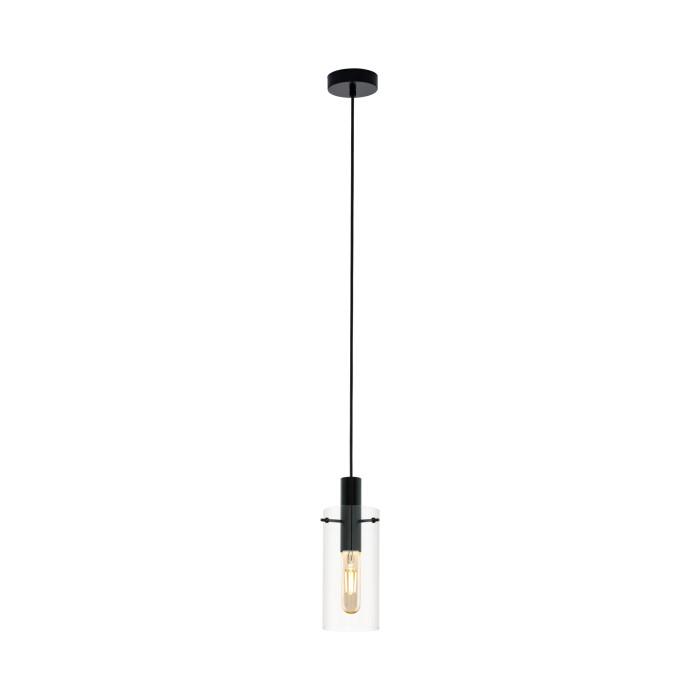 Griestu lampa EGLO Montefino E27 max60W melna/caurspīdīga 97366
