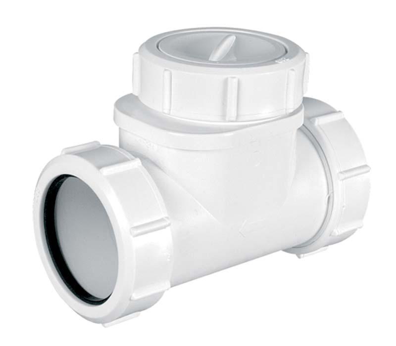 sewer horizontal non-return valve 40mm