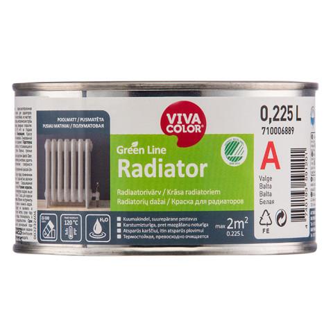 VIVACOLOR GL Radiator A 0.225L  Pusmatēta krāsa radiatoriem Green Line