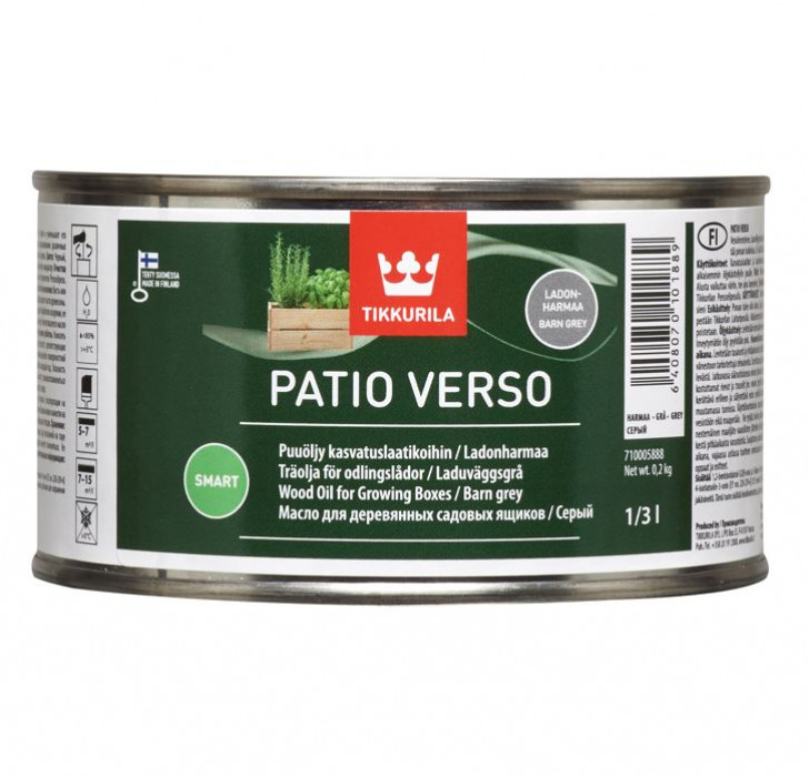 Tikkurila PATIO VERSO 0.33L Grey Wood Oil