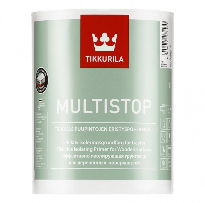 Tikkurila MULTISTOP 1L Sealing primer for wooden surfaces