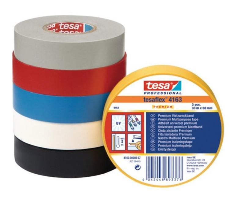 tesa 04163 Multipurpose Soft PVC Premium 19mmx33m Blue