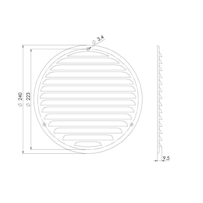 решеткаметаллическая,Ø200mm,кор