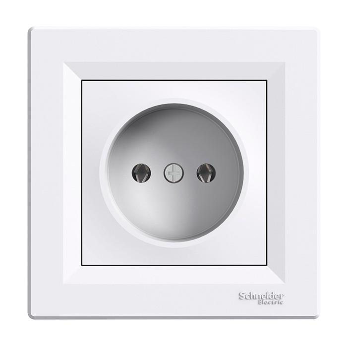 ASFORA white socket with frame