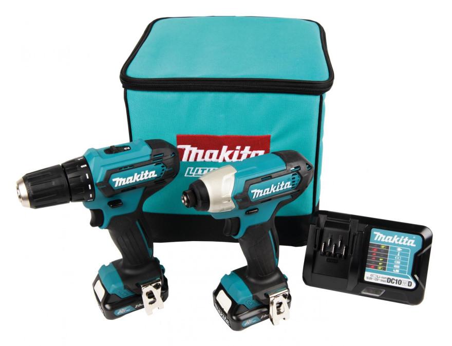 Tool set Makita (DF333D + TD110D); 12 V; 2x2,0 Ah accu.