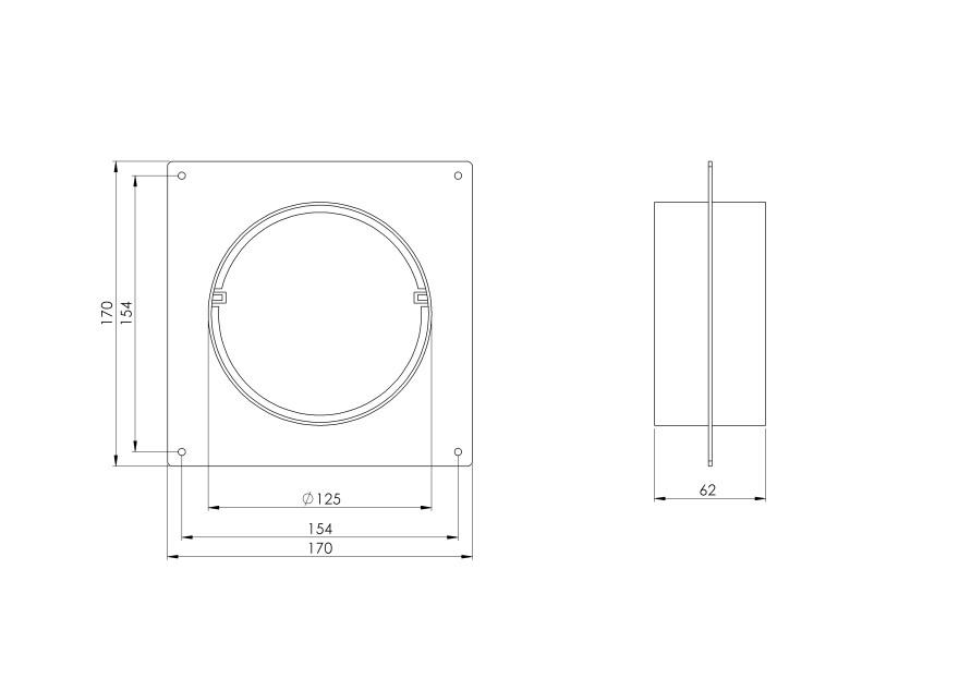 circularflangeplastic,Ø125mm