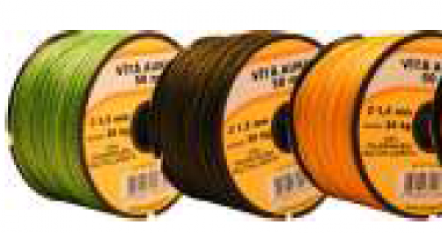 Cord twisted green D1.5mm/50m, polypropylene multifillament high tenacity, coil, breaking load 36 kg