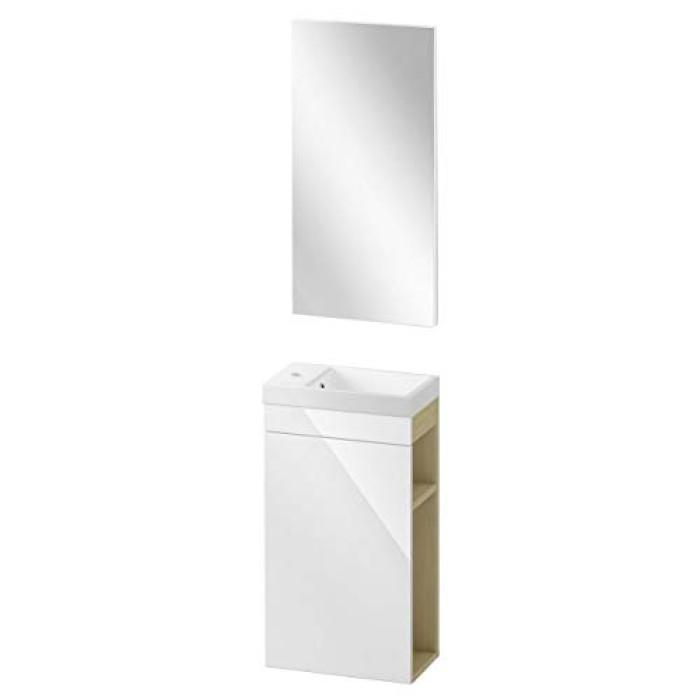 Cersanit skapītis ar izlietni  + spogulis SMART COMO 40  S801-038-EX1,SET 228