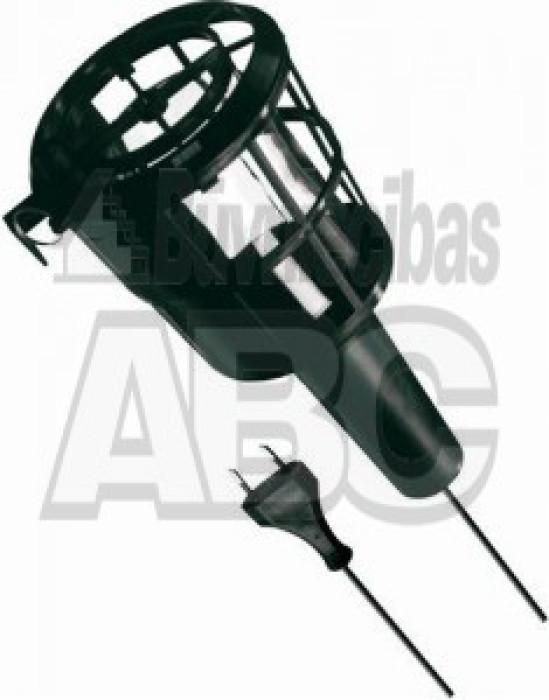 Pārnēsājamā lampa ACUMA E27 60 W plastm. aizsargs+plastm.rokt